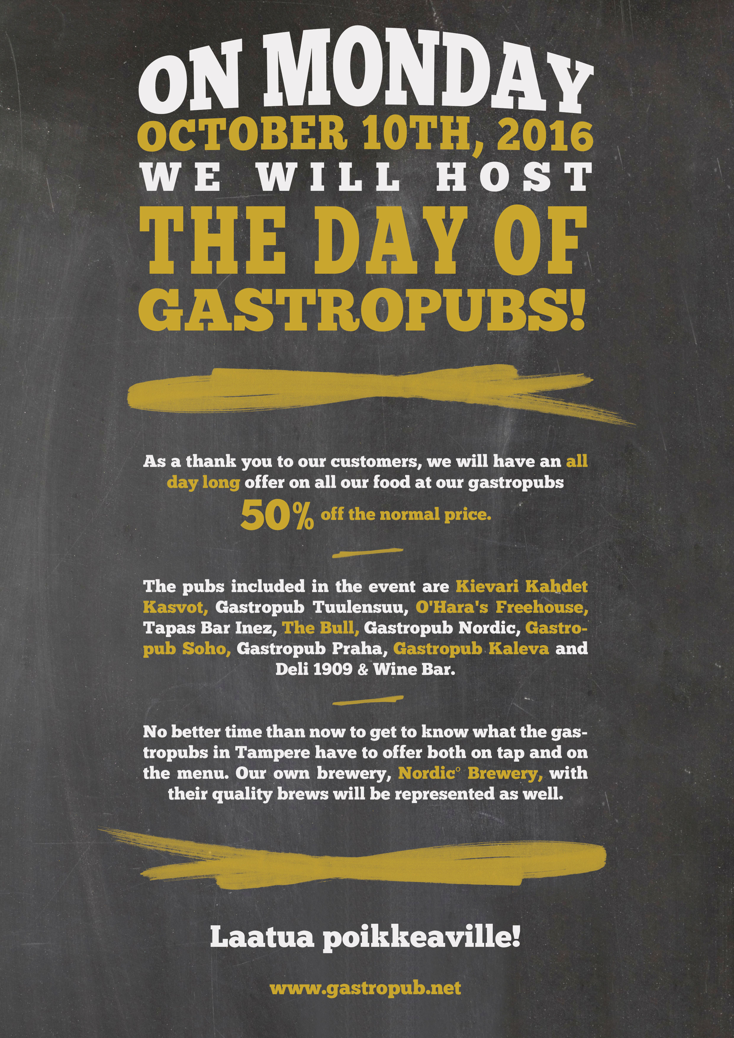 The Day of Gastropubs